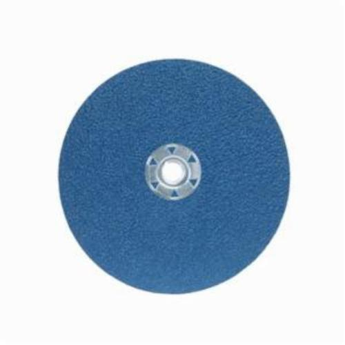 Norton® BlueFire® 66261138817 F826P Heavy Duty Coated Abrasive Disc, 7 in Dia, 5/8-11 Center Hole, 50 Grit, Coarse Grade, Zirconia Alumina Abrasive, Speed Change Fastener Attachment