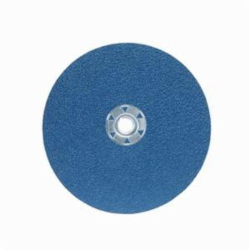 Norton® BlueFire® 66261138819 F826P Heavy Duty Coated Abrasive Disc, 7 in Dia, 5/8-11 Center Hole, 24 Grit, Extra Coarse Grade, Zirconia Alumina Abrasive, Speed Change Fastener Attachment