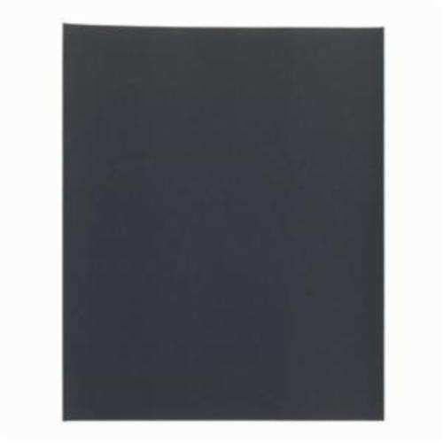 Norton® Black Ice™ 66261139379 T401 Coated Sandpaper Sheet, 11 in L x 9 in W, 1500 Grit, Ultra Fine Grade, Silicon Carbide Abrasive, Paper Backing