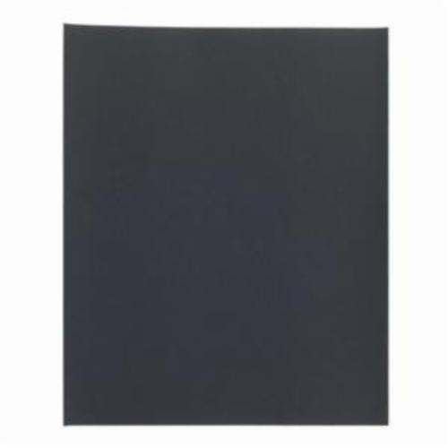 Norton® Black Ice™ 66261139384 T214 Coated Sandpaper Sheet, 11 in L x 9 in W, P500 Grit, Super Fine Grade, Aluminum Oxide Abrasive, Paper Backing