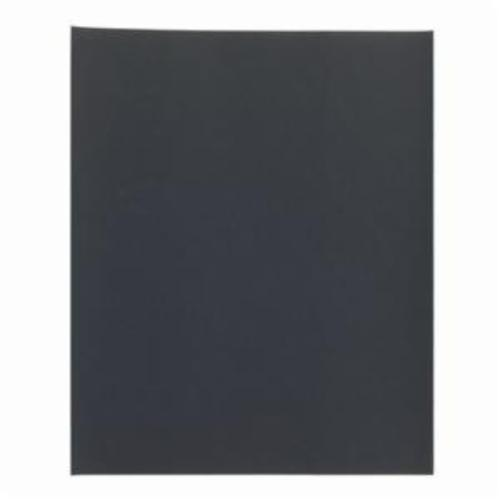 Norton® Black Ice™ 66261139386 T214 Coated Sandpaper Sheet, 11 in L x 9 in W, P320 Grit, Extra Fine Grade, Aluminum Oxide Abrasive, Paper Backing