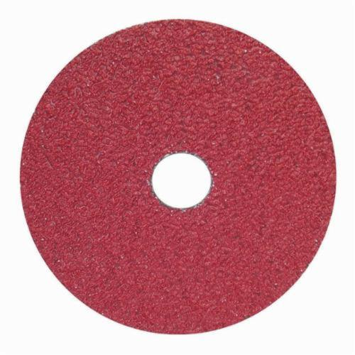 Norton® Neon® 66623395018 F726 Close Coated Heavy Duty Abrasive Disc, 5 in Dia, 7/8 in Center Hole, 50 Grit, Coarse Grade, Aluminum Oxide/Ceramic Alumina Abrasive, Center Mount Attachment