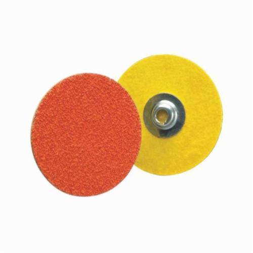 Norton® Blaze® 66261162333 R980P Heavy Duty Coated Abrasive Quick-Change Disc, 3 in Dia, 80 Grit, Coarse Grade, Ceramic Alumina Abrasive, Type TS (Type II) Attachment