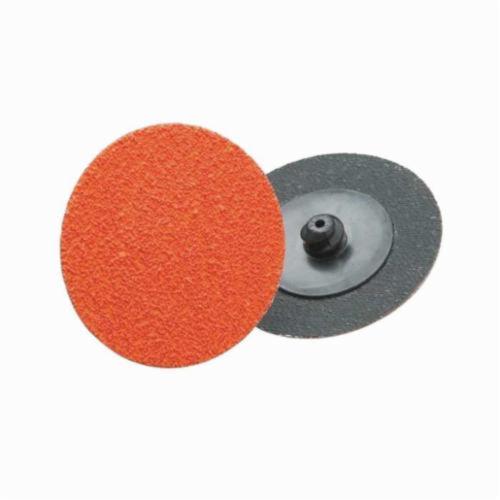 Norton® Blaze® 66261162334 R980P Heavy Duty Coated Abrasive Quick-Change Disc, 3 in Dia, 80 Grit, Coarse Grade, Ceramic Alumina Abrasive, Type TR (Type III) Attachment