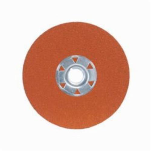 Norton® Blaze® 66261185294 SG F980 Heavy Duty Coated Locking Abrasive Disc, 4-1/2 in Dia, 5/8-11 Center Hole, 36 Grit, Extra Coarse Grade, Premium Ceramic Alumina Abrasive, Speed Change Fastener Attachment