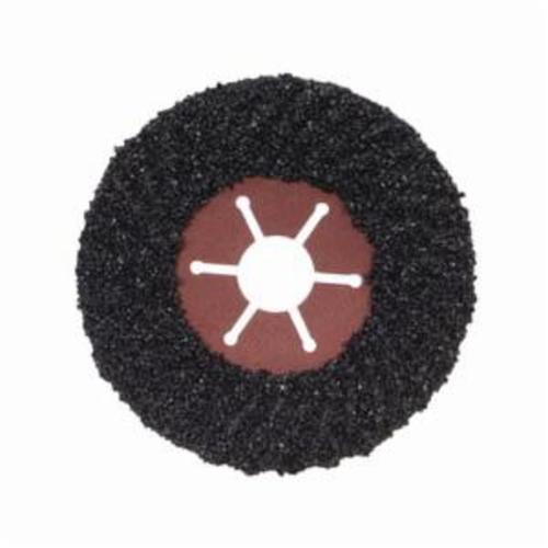 Norton® Fast Cut™ 66261199052 Semi-Rigid Coated Abrasive Disc, 7 in Dia, 7/8 in Center Hole, 16 Grit, Extra Coarse Grade, Silicon Carbide Abrasive, Center Mount Attachment