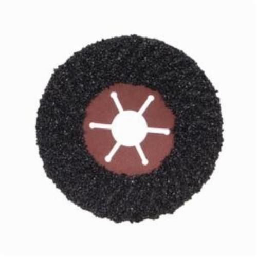 Norton® Fast Cut™ 66261199054 Semi-Rigid Coated Abrasive Disc, 4-1/2 in Dia, 7/8 in Center Hole, 16 Grit, Extra Coarse Grade, Silicon Carbide Abrasive, Center Mount Attachment