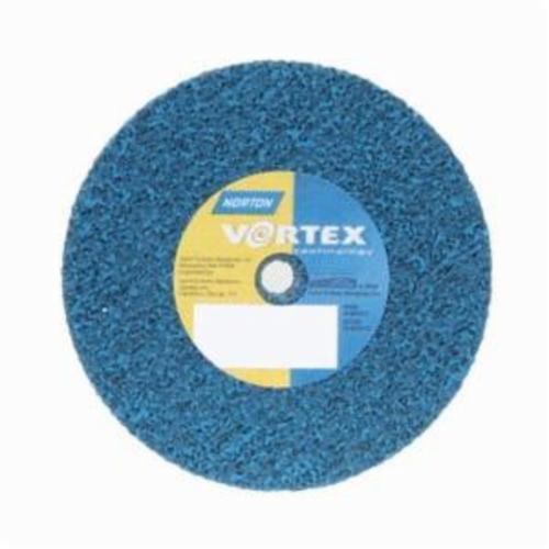 Norton® Bear-Tex® Rapid Blend™ Vortex® 66261199697 Non-Woven Unified Wheel, 3 in Dia, 3/8 in Center Hole, 1/4 in W Face, Medium Grade, Aluminum Oxide Abrasive