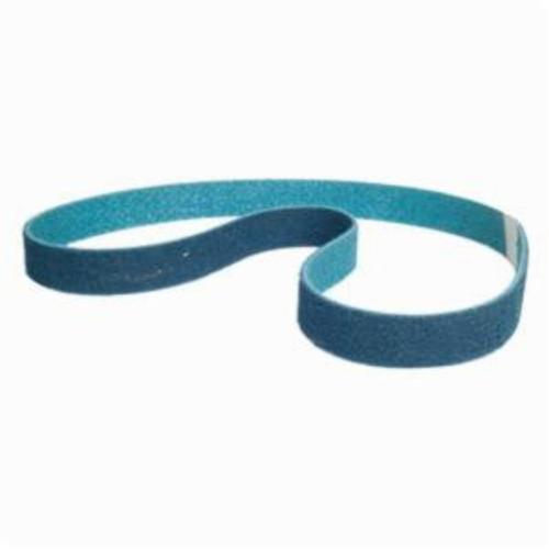 Norton® Bear-Tex® Rapid Prep™ 66623303624 Benchstand Flex Low Stretch Narrow Regular Surface Conditioning Non-Woven Abrasive Belt, 1-1/2 in W x 60 in L, Very Fine Grade, Aluminum Oxide Abrasive, Blue