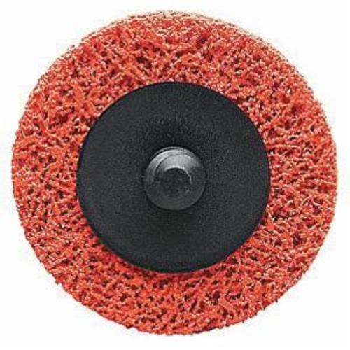 Norton® Blaze® Rapid Blend™ 66623313930 Non-Woven Abrasive Quick-Change Disc, 3 in Dia, Extra Coarse Grade, Ceramic Alumina Abrasive, Type TR (Type III) Attachment