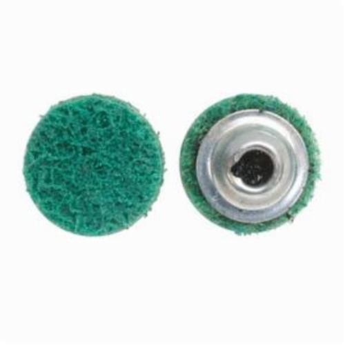 Norton® Vortex® Rapid Prep™ 66623325031 Non-Woven Abrasive Quick-Change Disc, 1-1/2 in Dia, 120 Grit, Fine Grade, Aluminum Oxide Abrasive, Type TS (Type II) Attachment