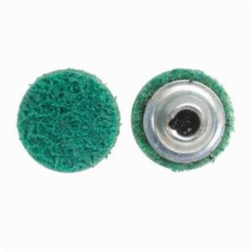 Norton® Vortex® Rapid Prep™ 66623325037 Non-Woven Abrasive Quick-Change Disc, 3 in Dia, 120 Grit, Fine Grade, Aluminum Oxide Abrasive, Type TS (Type II) Attachment
