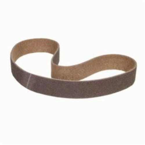 Norton® Bear-Tex® Rapid Prep™ 66623333414 Benchstand Flex Low Stretch Narrow Regular Surface Conditioning Non-Woven Abrasive Belt, 1 in W x 64 in L, Coarse Grade, Aluminum Oxide Abrasive, Brown