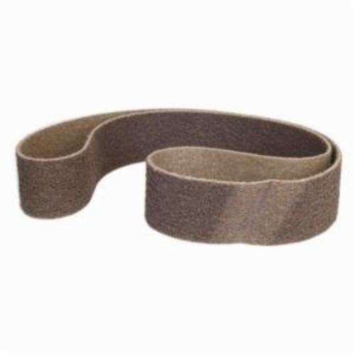 Norton® Bear-Tex® Rapid Prep™ 66623333419 Backstand Flex Low Stretch Narrow Regular Surface Conditioning Non-Woven Abrasive Belt, 3 in W x 72 in L, Coarse Grade, Aluminum Oxide Abrasive, Brown