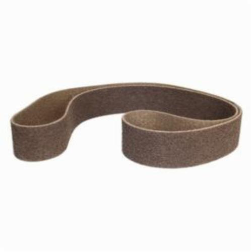 Norton® Bear-Tex® Rapid Prep™ 66623333421 Backstand Flex Low Stretch Narrow Regular Surface Conditioning Non-Woven Abrasive Belt, 3 in W x 90 in L, Coarse Grade, Aluminum Oxide Abrasive, Brown