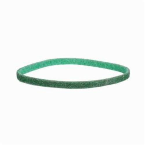 Norton® Bear-Tex® Rapid Prep™ 66623333424 Low Stretch Surface Conditioning Xtra Flexible Non-Woven Abrasive Belt, 1/4 in W x 18 in L, Fine Grade, Aluminum Oxide Abrasive, Green