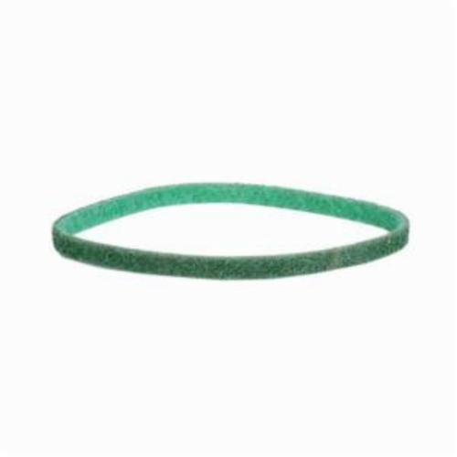 Norton® Bear-Tex® Rapid Prep™ 66623333430 Low Stretch Surface Conditioning Xtra Flexible Non-Woven Abrasive Belt, 1 in W x 21 in L, Fine Grade, Aluminum Oxide Abrasive, Green