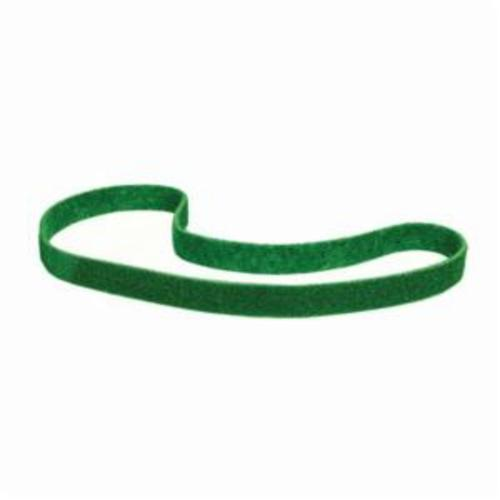 Norton® Bear-Tex® Rapid Prep™ 66623333432 Benchstand Flex Low Stretch Narrow Regular Surface Conditioning Non-Woven Abrasive Belt, 1 in W x 42 in L, Fine Grade, Aluminum Oxide Abrasive, Green