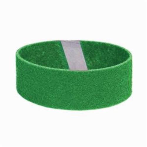 Norton® Bear-Tex® Rapid Prep™ 66623333444 Low Stretch Flex Portable Regular Surface Conditioning Non-Woven Abrasive Belt, 3 in W x 18 in L, Fine Grade, Aluminum Oxide Abrasive, Green