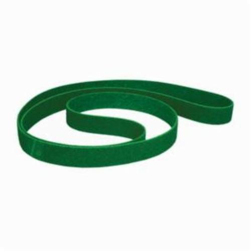 Norton® Bear-Tex® Rapid Prep™ 66623333447 Backstand Flex Low Stretch Narrow Regular Surface Conditioning Non-Woven Abrasive Belt, 3 in W x 72 in L, Fine Grade, Aluminum Oxide Abrasive, Green