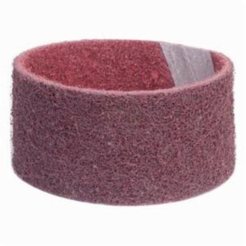 Norton® Bear-Tex® Rapid Prep™ 66623333508 Low Flex Highest Density Portable Stiffest Surface Conditioning Non-Woven Abrasive Belt, 2-3/4 in W x 15-1/2 in L, Medium Grade, Aluminum Oxide Abrasive, Maroon