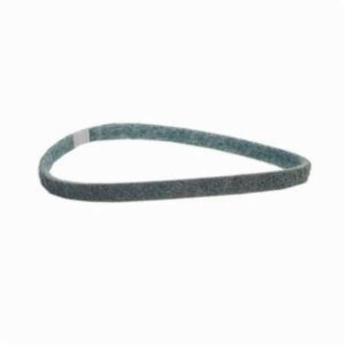 Norton® Bear-Tex® Rapid Prep™ 66623333519 Low Stretch Surface Conditioning Xtra Flexible Non-Woven Abrasive Belt, 1 in W x 21 in L, Very Fine Grade, Aluminum Oxide Abrasive, Blue