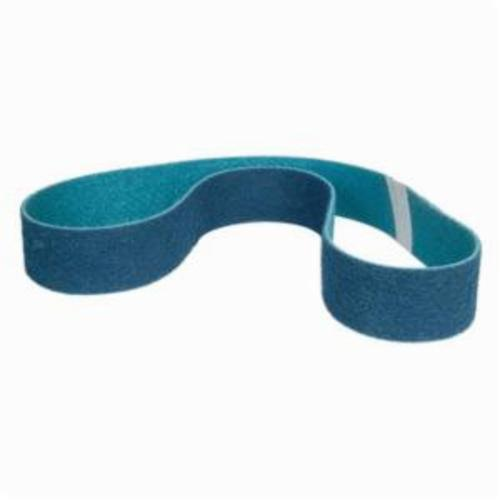 Norton® Bear-Tex® Rapid Prep™ 66623333534 Benchstand Flex Low Stretch Narrow Regular Surface Conditioning Non-Woven Abrasive Belt, 2-1/2 in W x 60 in L, Very Fine Grade, Aluminum Oxide Abrasive, Blue