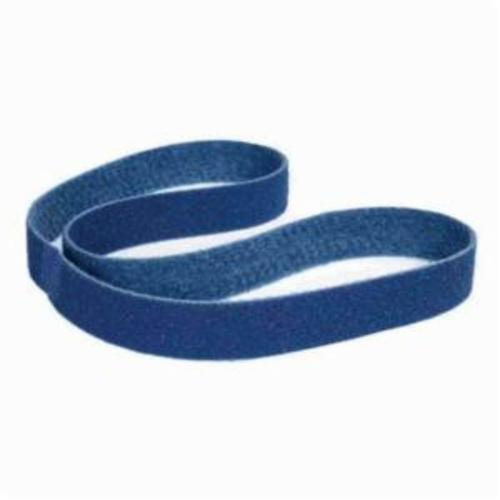 Norton® Bear-Tex® Rapid Prep™ 66623333541 Backstand Flex Low Stretch Narrow Regular Surface Conditioning Non-Woven Abrasive Belt, 3 in W x 90 in L, Very Fine Grade, Aluminum Oxide Abrasive, Blue