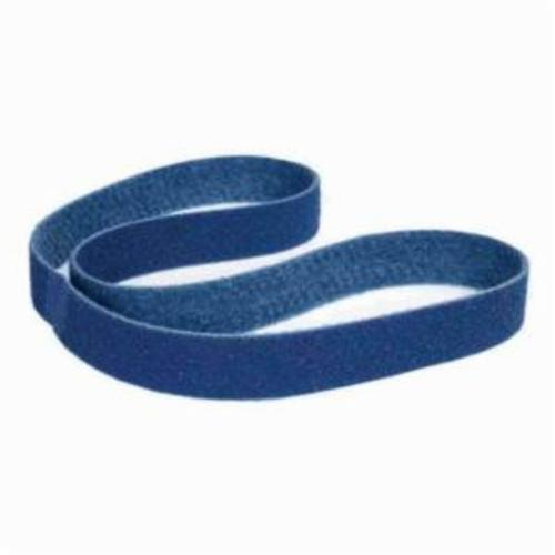 Norton® Bear-Tex® Rapid Prep™ 66623333542 Backstand Flex Low Stretch Narrow Regular Surface Conditioning Non-Woven Abrasive Belt, 3 in W x 80 in L, Very Fine Grade, Aluminum Oxide Abrasive, Blue