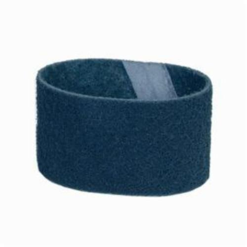 Norton® Bear-Tex® Rapid Prep™ 66623333546 Benchstand Flex Low Stretch Narrow Regular Surface Conditioning Non-Woven Abrasive Belt, 4 in W x 36 in L, Very Fine Grade, Aluminum Oxide Abrasive, Blue