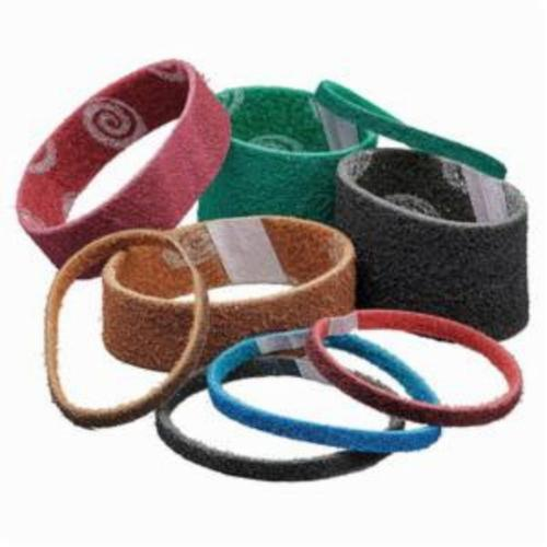 Norton® Bear-Tex® Rapid Prep™ Vortex® 66623335112 Portable Non-Woven Abrasive Belt, 3 in W x 18 in L, Medium Grade, Aluminum Oxide Abrasive, Maroon