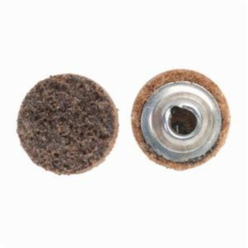 Norton® Vortex® Rapid Prep™ 66623335410 Non-Woven Abrasive Quick-Change Disc, 3/4 in Dia, 50 Grit, Coarse Grade, Aluminum Oxide Abrasive, Type TS (Type II) Attachment