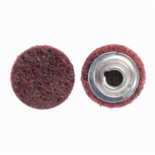 Norton® Vortex® Rapid Prep™ 66623335421 Non-Woven Abrasive Quick-Change Disc, 1 in Dia, 80 Grit, Medium Grade, Aluminum Oxide Abrasive, Type TS (Type II) Attachment