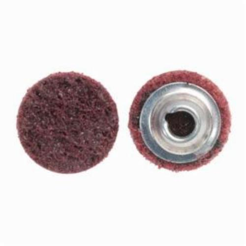 Norton® Vortex® Rapid Prep™ 66623335423 Non-Woven Abrasive Quick-Change Disc, 1-1/2 in Dia, 80 Grit, Medium Grade, Aluminum Oxide Abrasive, Type TS (Type II) Attachment