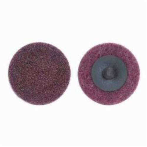 Norton® Bear-Tex® Speed-Lok® 66623340032 Non-Woven Abrasive Quick-Change Disc, 3/4 in Dia, 80 Grit, Medium Grade, Aluminum Oxide Abrasive, Type TR (Type III) Attachment