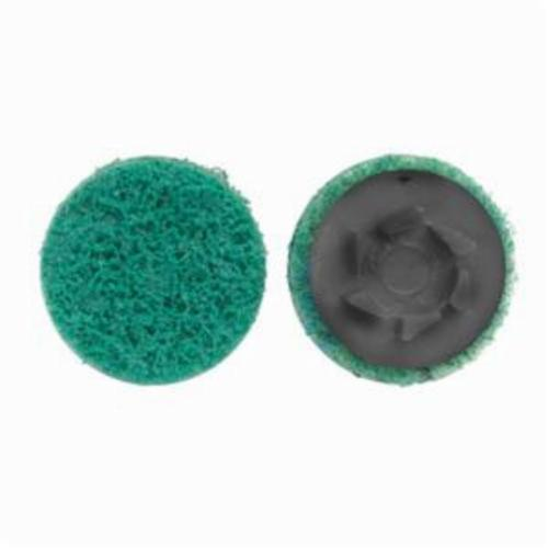 Norton® Rapid Prep™ 66623340080 Non-Woven Abrasive Quick-Change Disc, 3 in Dia, 220 Grit, Fine Grade, Aluminum Oxide Abrasive, Type TP (Type I) Attachment