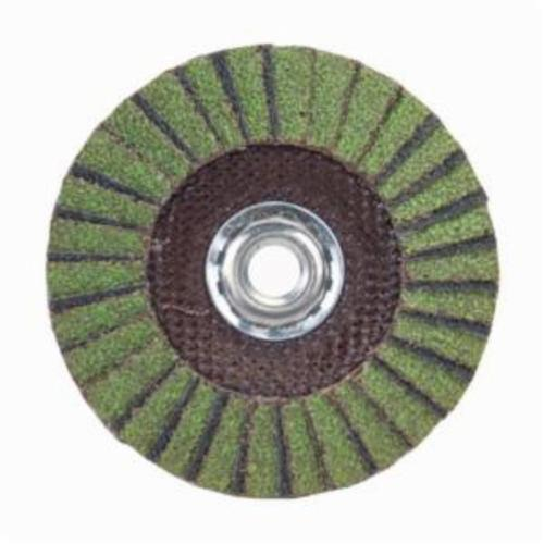 Norton® Neon® 66623399042 R766 Arbor Thread Standard Density Coated Abrasive Flap Disc, 6 in Dia, P80 Grit, Coarse Grade, Aluminum Oxide/Zirconia Alumina Abrasive, Type 29/Conical Disc