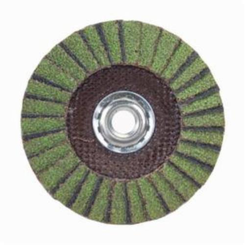 Norton® Neon® 66623399043 R766 Arbor Thread Standard Density Coated Abrasive Flap Disc, 7 in Dia, P40 Grit, Extra Coarse Grade, Aluminum Oxide/Zirconia Alumina Abrasive, Type 29/Conical Disc
