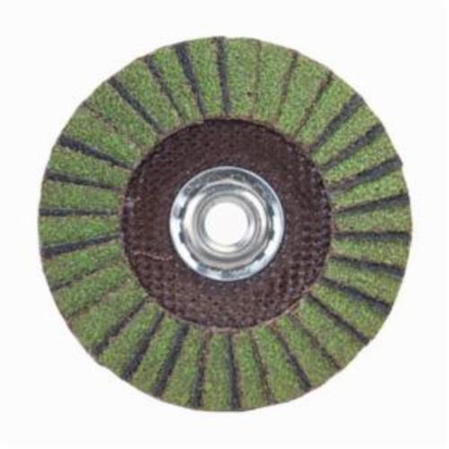 Norton® Neon® 66623399044 R766 Arbor Thread Standard Density Coated Abrasive Flap Disc, 7 in Dia, P60 Grit, Coarse Grade, Aluminum Oxide/Zirconia Alumina Abrasive, Type 29/Conical Disc