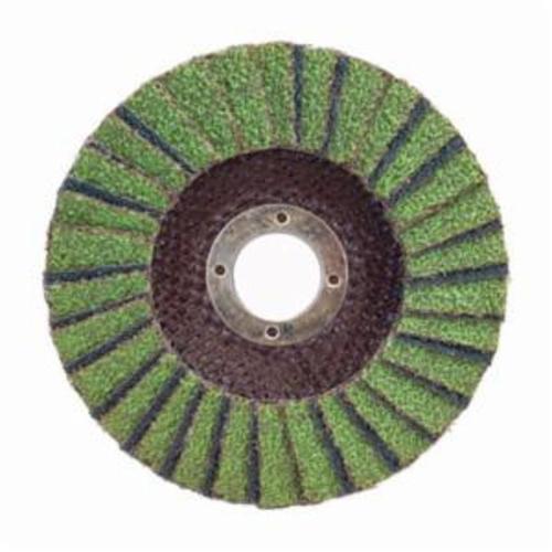 Norton® Neon® 66623399214 R766 Center Mount High Density Coated Abrasive Flap Disc, 5 in Dia, 7/8 in Center Hole, P80 Grit, Coarse Grade, Aluminum Oxide/Zirconia Alumina Abrasive, Type 27/Flat Disc
