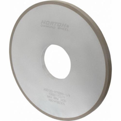 Norton® 69014192305 Straight Surface Grinding Wheel, 10 in Dia x 1/2 in THK, 3 in Center Hole, 120 Grit, Fine Grade, Diamond Abrasive