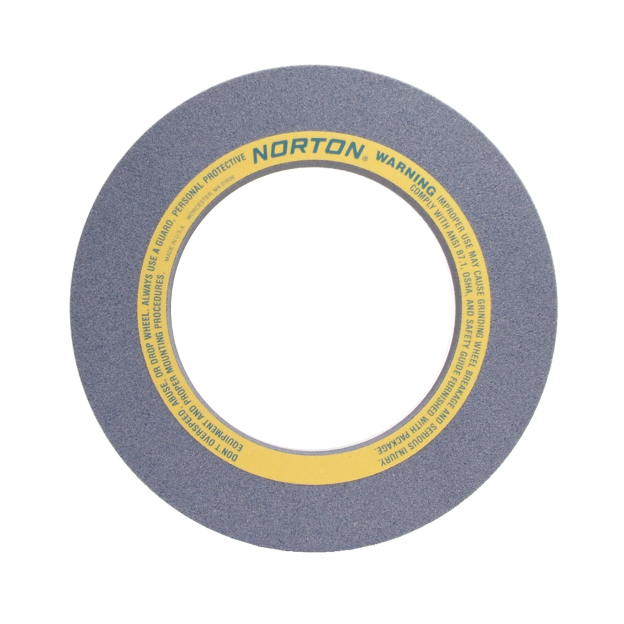 Norton® 69078665455 32A Straight Surface and Cylindrical Grinding Wheel, 20 in Dia x 2 in THK, 12 in Center Hole, 46 Grit, Aluminum Oxide Abrasive