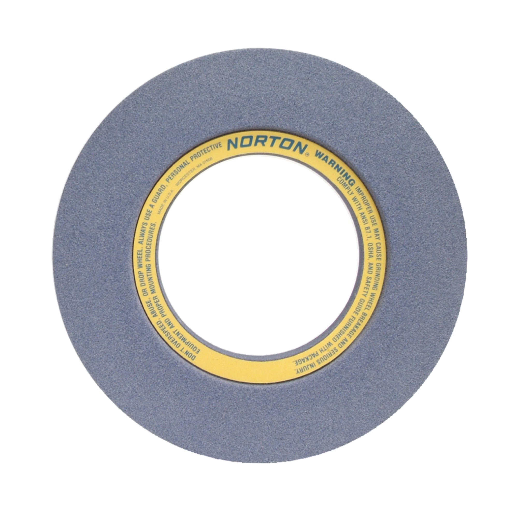 Norton® 69078665575 32A 2-Side Recessed Surface and Cylindrical Grinding Wheel, 20 in Dia x 3 in THK, 10 in Center Hole, 46 Grit, Aluminum Oxide Abrasive