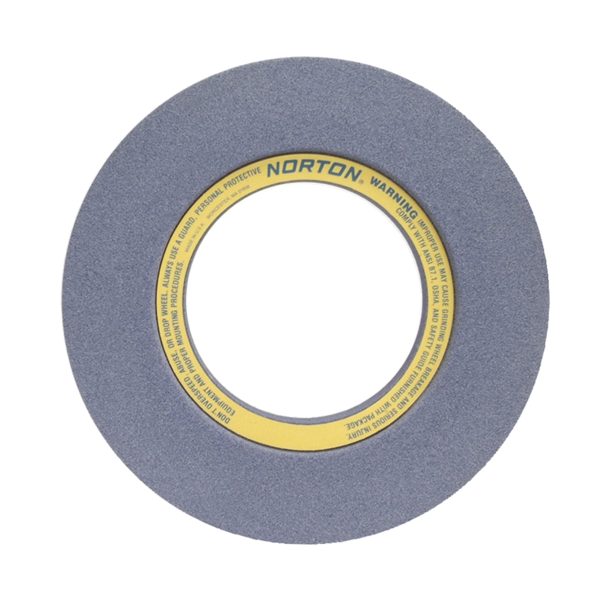 Norton® 69078665686 32A 2-Side Recessed Surface and Cylindrical Grinding Wheel, 20 in Dia x 3 in THK, 8 in Center Hole, 46 Grit, Aluminum Oxide Abrasive