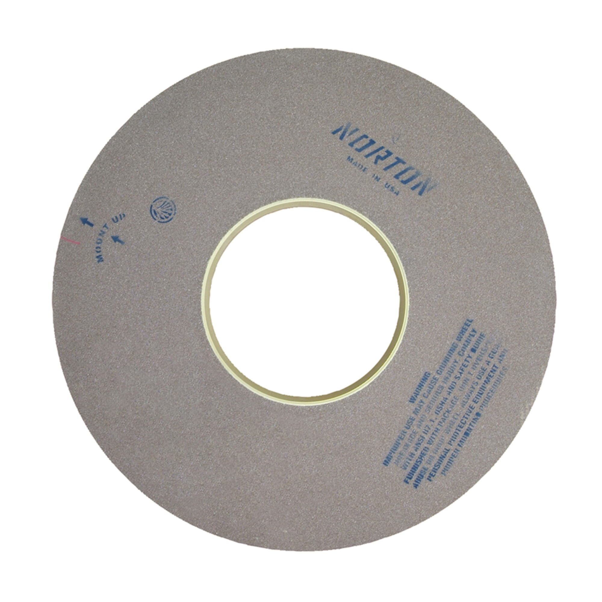 Norton® 69078666712 64A Surface and Cylindrical Grinding Wheel, 20 in Dia x 2 in THK, 8 in Center Hole, 60 Grit, Aluminum Oxide Abrasive