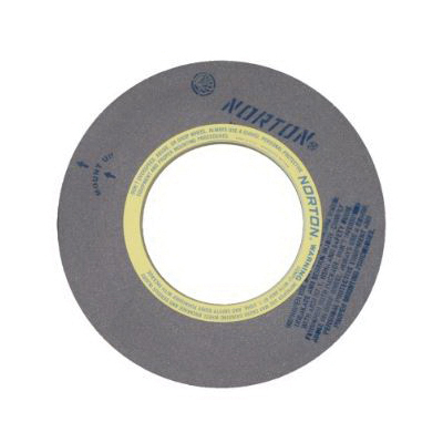Norton® 69078666723 64A Centerless Grinding Wheel, 20 in Dia x 4 in THK, 12 in Center Hole, 60 Grit, Aluminum Oxide Abrasive