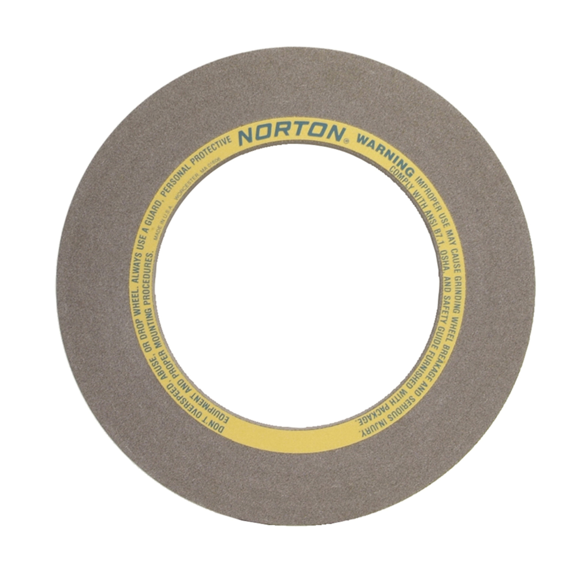 Norton® 69083166549 32A Straight Centerless Grinding Wheel, 24 in Dia x 10 in THK, 305 mm Center Hole, 54 Grit, Aluminum Oxide Abrasive