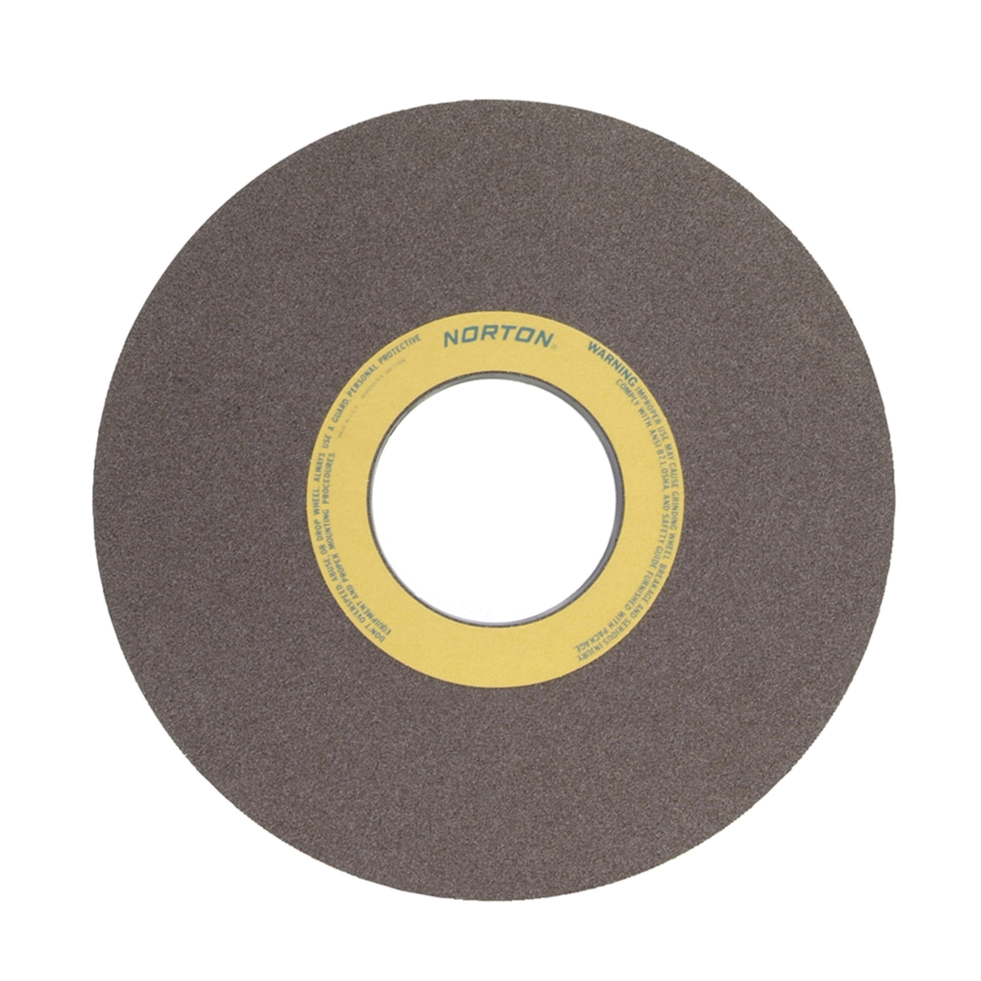 Norton® 69210466697 64A Surface and Cylindrical Grinding Wheel, 30 in Dia x 3 in THK, 12 in Center Hole, 60 Grit, Aluminum Oxide Abrasive