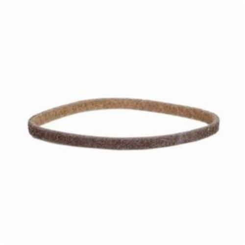 Norton® Bear-Tex® Rapid Prep™ 69957392606 Low Stretch Surface Conditioning Xtra Flexible Non-Woven Abrasive Belt, 1/4 in W x 24 in L, Coarse Grade, Aluminum Oxide Abrasive, Brown
