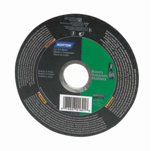 Norton® Metal® 07660789097 Type 1 Reinforced Cut-Off Wheel, 7 in Dia x 1/8 in THK, 5/8 in Center Hole, 24 Grit, Aluminum Oxide Abrasive